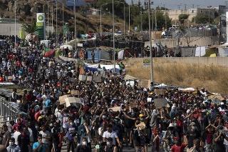 Dočasný tábor na Lesbose, kde žije okolo 6000 žiadateľov o azyl.