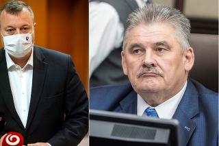 Minister práce, sociálnych vecí a rodiny Milan Krajniak (Sme rodina) a poslanec Národnej rady (NR) SR Ján Richter (Smer-SD).