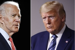 Kandidáti na prezidenta USA Joe Biden a Donald Trump