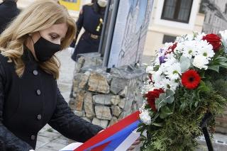 Prezidentka SR Zuzana Čaputová si uctila pamiatku obetí holokaustu.