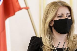 Prezidentka Zuzana Čaputová počas tlačovej konferencie
