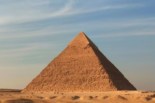 The great pyramid of Giza, Egypt - Khufu pyramid in a sunny day