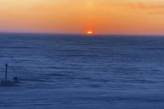 Takto vyzeral v Utqiagviku posledný západ slnka v tomto roku
