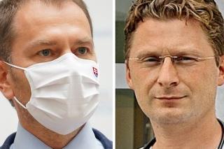 Premiér Igor Matovič a Peter Visolajský, predseda Lekárskeho odborového združenia