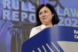 Podpredsedníčka Európskej komisie (EK) pre hodnoty a transparentnosť Věra Jourová.