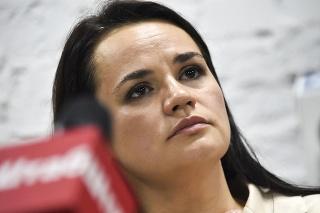 Kandidátka bieloruskej opozície na prezidentku Svitlana Cichanovská