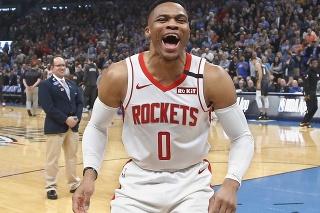 Na snímke hráč Houstonu Russell Westbrook,