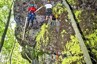 Ferrata F je vhodná pre mimoriadne skúsených lezcov