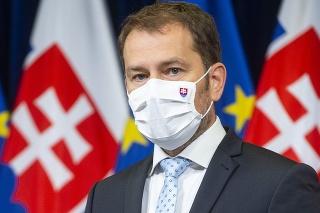 Premiér Igor Matovič (OĽaNO) počas tlačovej konferencie k výsledkom aktuálneho rokovania konzília odborníkov - epidemiológov.