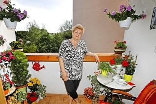 Silvia (71) pestuje muškáty, begónie aj štvorlístok šťastia .