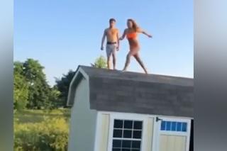 Au! Tesne vedľa: Chcela skočiť z domu na trampolínu, toto však naozaj nevyšlo