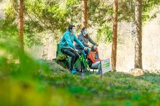 Braňo (38) prišiel s rodinou kvôli cyklodrezinám až z Popradu.