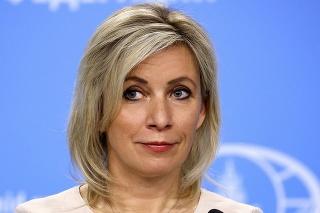 Hovorkyňa ruskej diplomacie Maria Zacharovová.
