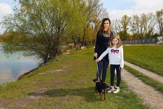 Kvetoslava (37) s dcérkou býva blízko Draždiaka a nový projekt víta, ale iba ak ostane zachovaný prístup k vode pre verejnosť.