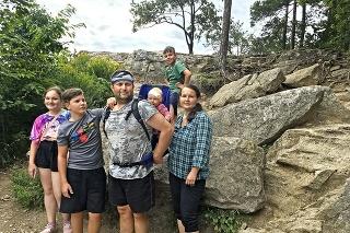 Rodina chodila často na výlety, táto fotka vznikla pred dvoma rokmi v Slovenskom raji.