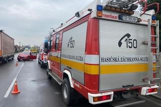 Havária pri obci Ludanice.