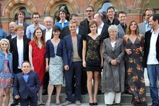 Herci pri natáčaní finálnej časti ságy o Harrym Potterovi