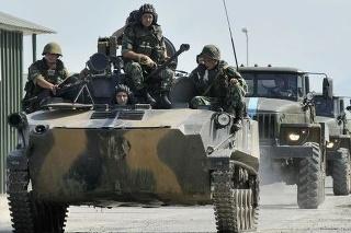 Ruské vojenské jednotky v Južnom Osetsku.