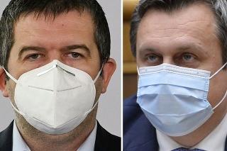 Český minister vnútra a zahraničných vecí Jan Hamáček a predseda SNS Andrej Danko