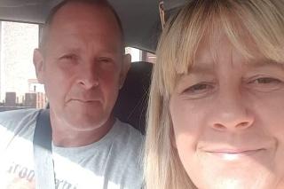 Trish s milovaným manželom.