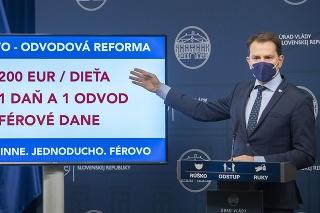 Podpredseda vlády a minister financií SR Igor Matovič (OĽaNO)