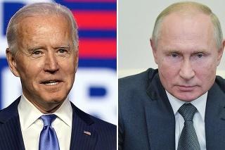 Novozvolený prezident USA Joe Biden a ruská hlava štátu Vladimir Putin