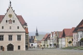 Radničné námestie v Bardejove.