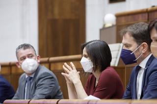 ministerka spravodlivosti Mária Kolíková (Za ľudí) čelí na 29. schôdzi NR SR odvolávaniu.