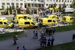 Počet obetí streľby v jednej zo stredných škôl v meste Kazaň v stredoruskej Tatárskej republike sa zvýšil na 11.