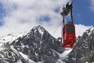 Víkendová jarná lyžovačka v Lomnickom sedle nad Skalnatým plesom vo Vysokých Tatrách.