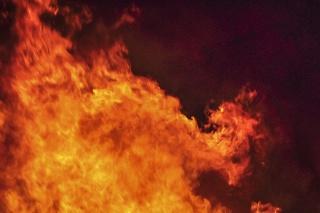Pri požiari