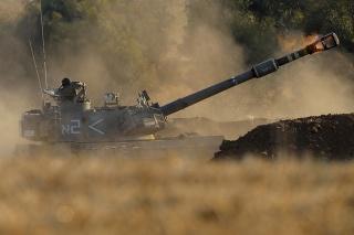 Izraelská delostrelecká jednotka.