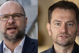 Vľavo minister Sulík, vpravo premiér Matovič.