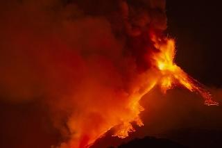 Erupcia sopky Etna 18. februára 2021.