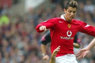 Cristiano Ronaldo v drese United.