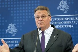 Na snímke minister zahraničných vecí Litvy Linas Linkevičius.