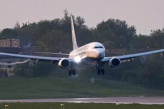 Lietadlo, ktoré bolo odklonené do Minsku.