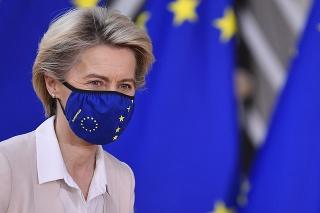 Predsedníčka Európskej komisie Ursula von der Leyenová na summite EÚ 10.12.2020 v Bruseli.