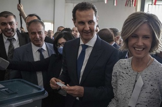 Asad s manželkou Asmou