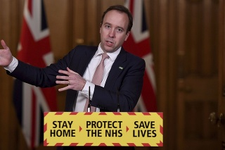 Britský minister zdravotníctva Matt Hancock