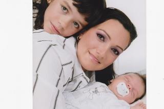 Moderátorka Karin Majtánová a dcéra Karin a syn Samuel