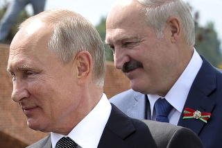 Vladimir Putin a Alexander Lukašenko