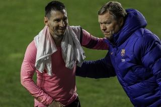 Tréner Ronald Koeman (vpravo) s Lionelom Messim.