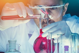 Chemist working at the laboratory