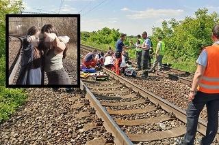 Tínedžerky zrazil vlak.