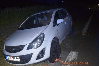 Dopravnú nehodu spôsobila 22-ročná vodička s tromi promile alkoholu.