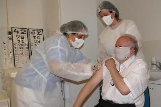 Prvý deň očkovania vakcínou Sputnik V v Žiline.