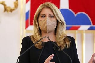 Prezidentka Slovenskej republiky Zuzana Čaputová.