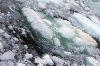Plytký šelf pri brehoch východnej Sibíri.