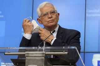 Na snímke šéf diplomacie Európskej únie Josep Borrell.